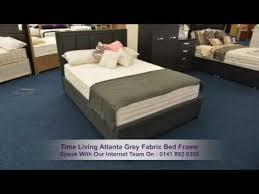Atlanta Bed Frame Time Living Atlanta Grey Fabric Bed Frame