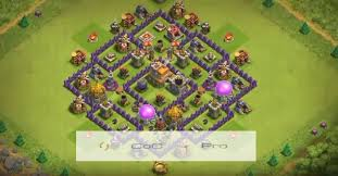 layout design th7 coc anti base town hall 7 hybrid th7 war farming defense