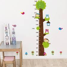 height chart wall decals naughty monkey the owl trees cartoon decor