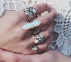 silver rings stones images Jewels ring silver stones jewelry silver ring boho chic jpg