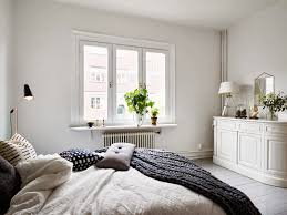 Grey Flooring Bedroom My Scandinavian Home A Swedish Apartment With A Cosy Bed And