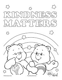 share your care day printable care bears coloring pages honest