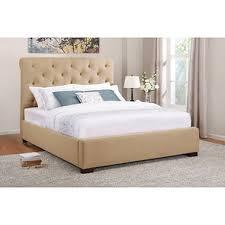 Beige Upholstered Bed Kingston Queen Upholstered Bed Beige Sam U0027s Club