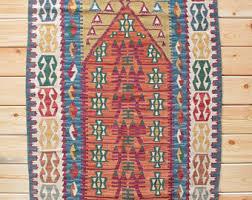 Kilim Bath Mat Turkish Rug Wool Rug 2 82 X 3 80 Ft Jijim Kilim Rug Vintage