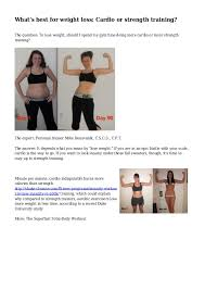 lose weight programs gym what s best for weight loss cardio or strength training