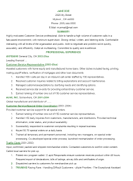 Resume Work Experience Examples For Customer Service by Resume Samples Customer Service Representative