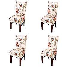 Dining Chair Short Slipcovers Amazon Com Stretch Removable Washable Short Dining Chair Cover