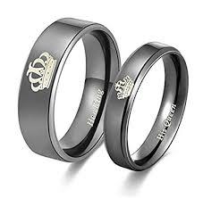 buy titanium rings images Buy moneekar jewels black titanium stainless steel couple rings jpg