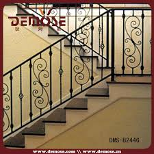residential wrought iron stair railing balustrade grill design
