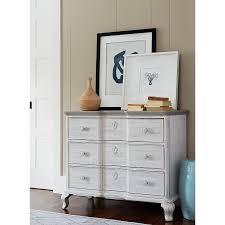 distressed white bedside chest