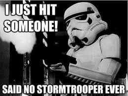Star Wars Memes Funny - just hit someone funny star wars meme