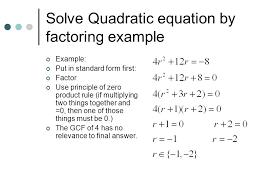 9 solve quadratic