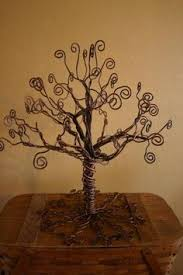 wire tree sculpture tree of on grapewood branch tree