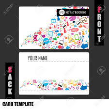 Social Network Business Card Modern Social Network Business Card Set Royalty Free Cliparts