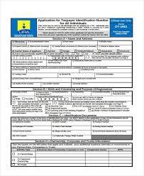 6 tin registration form samples free sample example format
