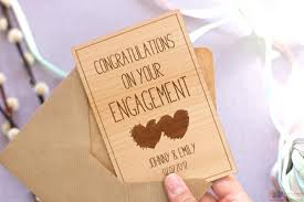 congratulations on engagement card congratulations on your engagement personalised wooden card