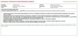Audio Visual Technician Resume Sample Audio Visual Technician Av Support Technician Technician Resume