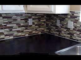Installing A Plastic Backsplash Youtube by Fancy Glass Backsplash Tile Set In Home Interior Design Concept