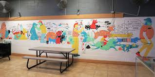 barc animal shelter mural on behance