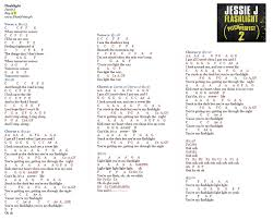 flashlight jessie j music letter notation with lyrics for