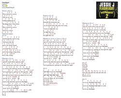 flashlight j music letter notation with lyrics for