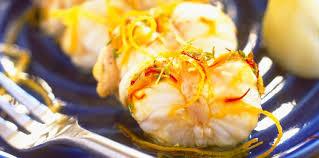 cuisiner la queue de lotte queue de lotte à l orange facile recette sur cuisine actuelle