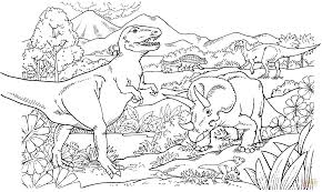 animal printable t rex dinosaurs coloring pages coloring tone