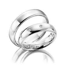 white gold wedding band his and hers matching wedding bands set 10k white gold diamond
