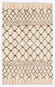 moroccan berber design rug 100 natural undyed wool shag