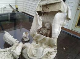 statue with explained statues jesus gollum etc inside other ceramic