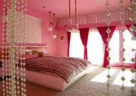 Cream And Pink Bedroom - elegant pink bedroom with double bed pink walls cream carpet and