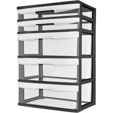 Christmas Ornament Storage Sterilite by Sterilite 3 Drawer Wide Cart Multiple Colors Walmart Com