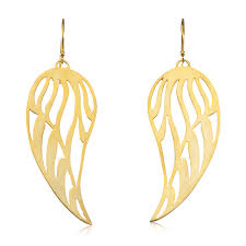 wing earrings angel wing earrings large 14k gold