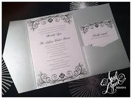 silver wedding invitations meridith jeff s wedding invitation suite april designs