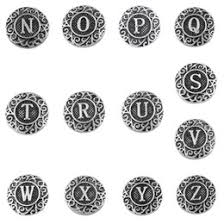 Decorative Snaps Initial Buttons Online Initial Buttons Wholesale For Sale