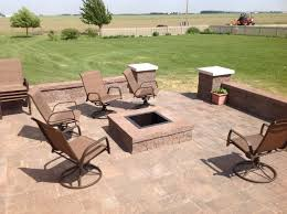 Paver Patios With Fire Pit by Square Fire Pit On Square Patio Archadeck Outdoor Living