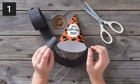 diy halloween witch paper party hats zazzle blog