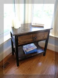 Farmhouse Side Table Table Farmhouse Side Table 1940s Kitchen Side Table With Baskets