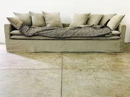 canape boheme canapé sur mesure boheme en lavé beige ciment canapés sur