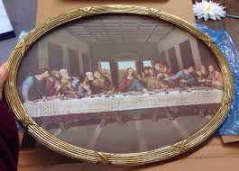 home interiors and gifts framed home interior and gifts the last supper print oval glass frame