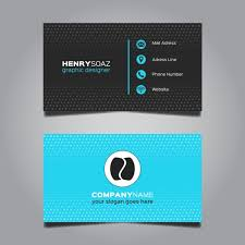 Free Graphics For Business Cards Black And Blue Modern Business Card Template Free Vectors Ui