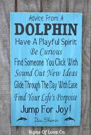 beach decor advice from a dolphin sign poem wood plaque nautical