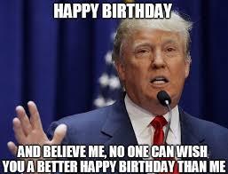 Happy Birthday To Me Meme - donald trump happy birthday meme greeting cards by balzac redbubble