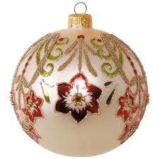 amaryllis ball blown glass ornament specialty ornaments hallmark