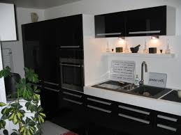 cuisine du placard photo le guide de la cuisine mobilier contemporain placards noirs