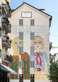 gucci commissions a mural by angelina hicks to promote their the brand unveiled the illustration yesterday on a wall on largo la foppa in milan s corso garibaldi district the original illustration shows two
