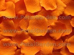 silk petals petal garden silk petals orange