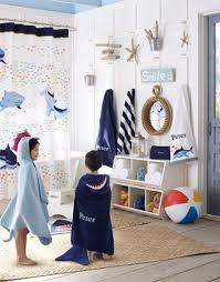 Pottery Barn Bathroom Ideas Shark Shower Curtain Pottery Barn Kids Jack And Jill Bathroom