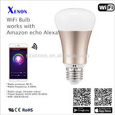 alexa controlled light bulbs xenon smart bulb 5w wi fi led light bulb e27 rgb timing switch phone