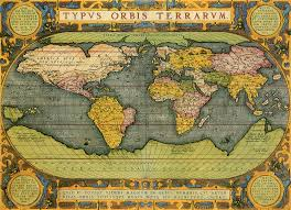 Antique World Map by Antique World Map 1587 U2013 The Conservative National Association Of